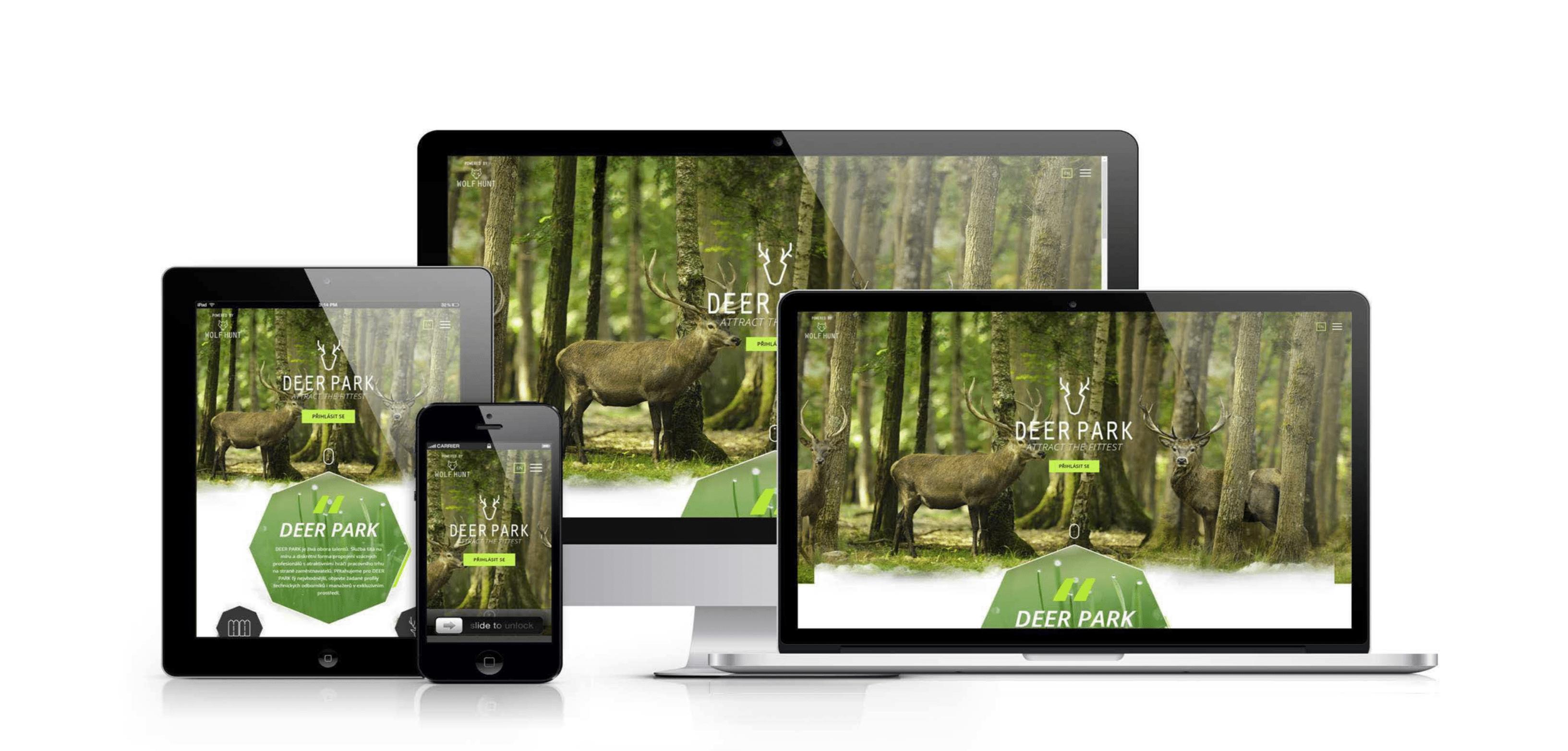 Deer Park web mockup