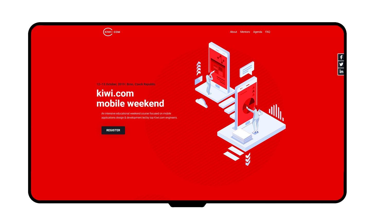 Kiwi.com - Mobile weekend mockup
