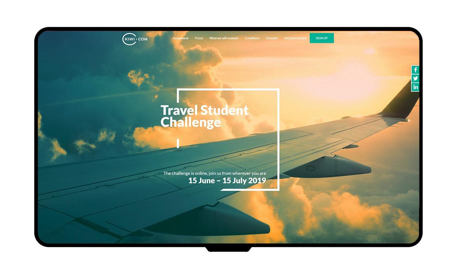 Kiwi.com - Student challenge mockup