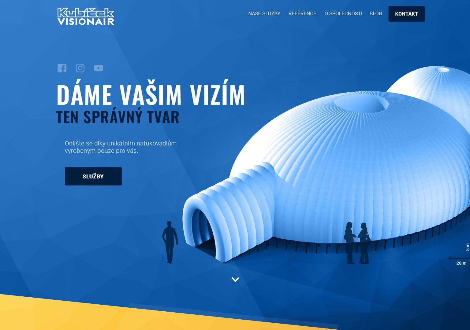 Kubíček Visionair web náhled