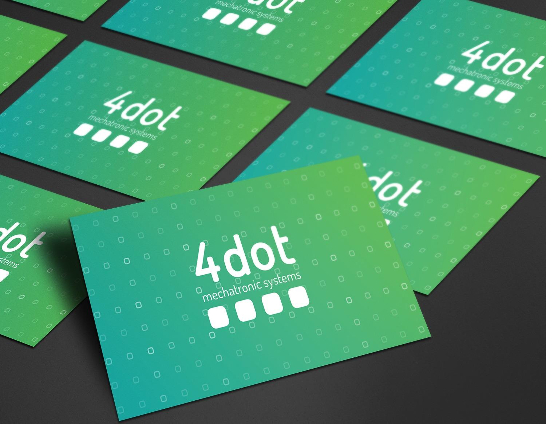 4 dot logo mockup