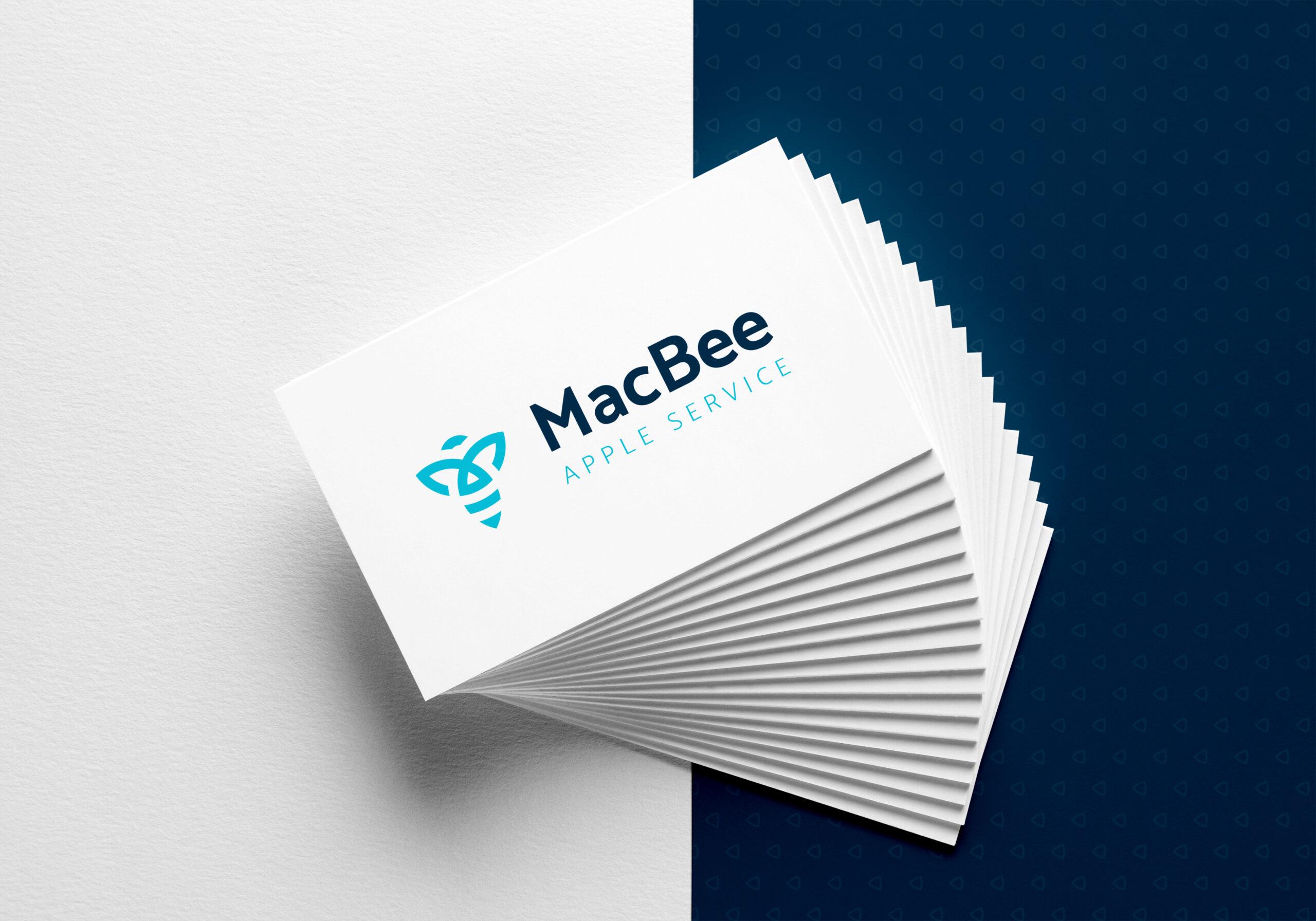 MacBee vizuální identita mockup