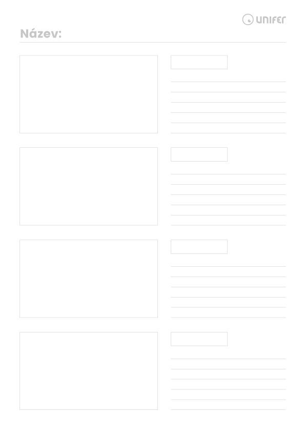 Šablona storyboardu