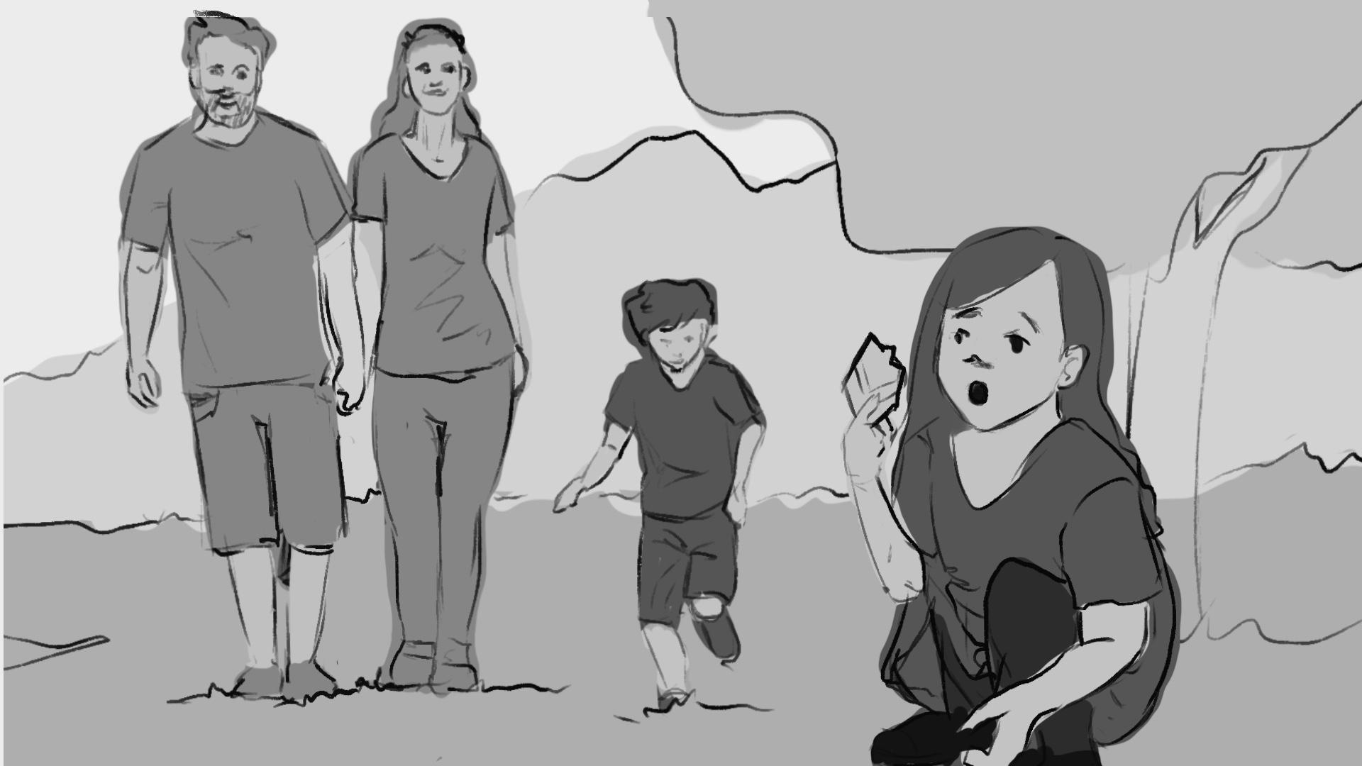 Kreslený storyboard
